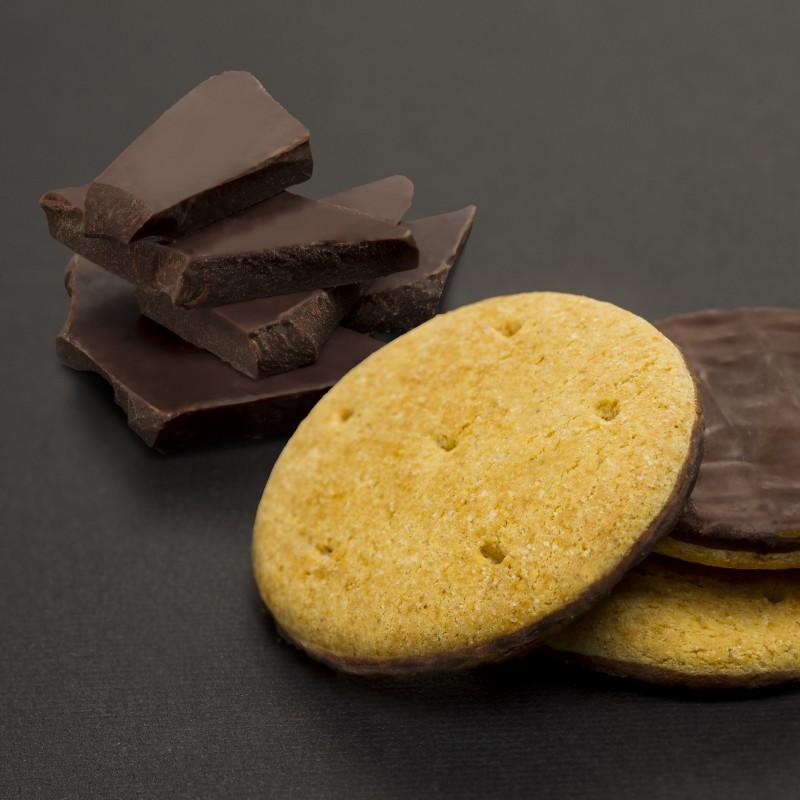 Keksz Étcsokoládé Bevonattal, Toman Snack